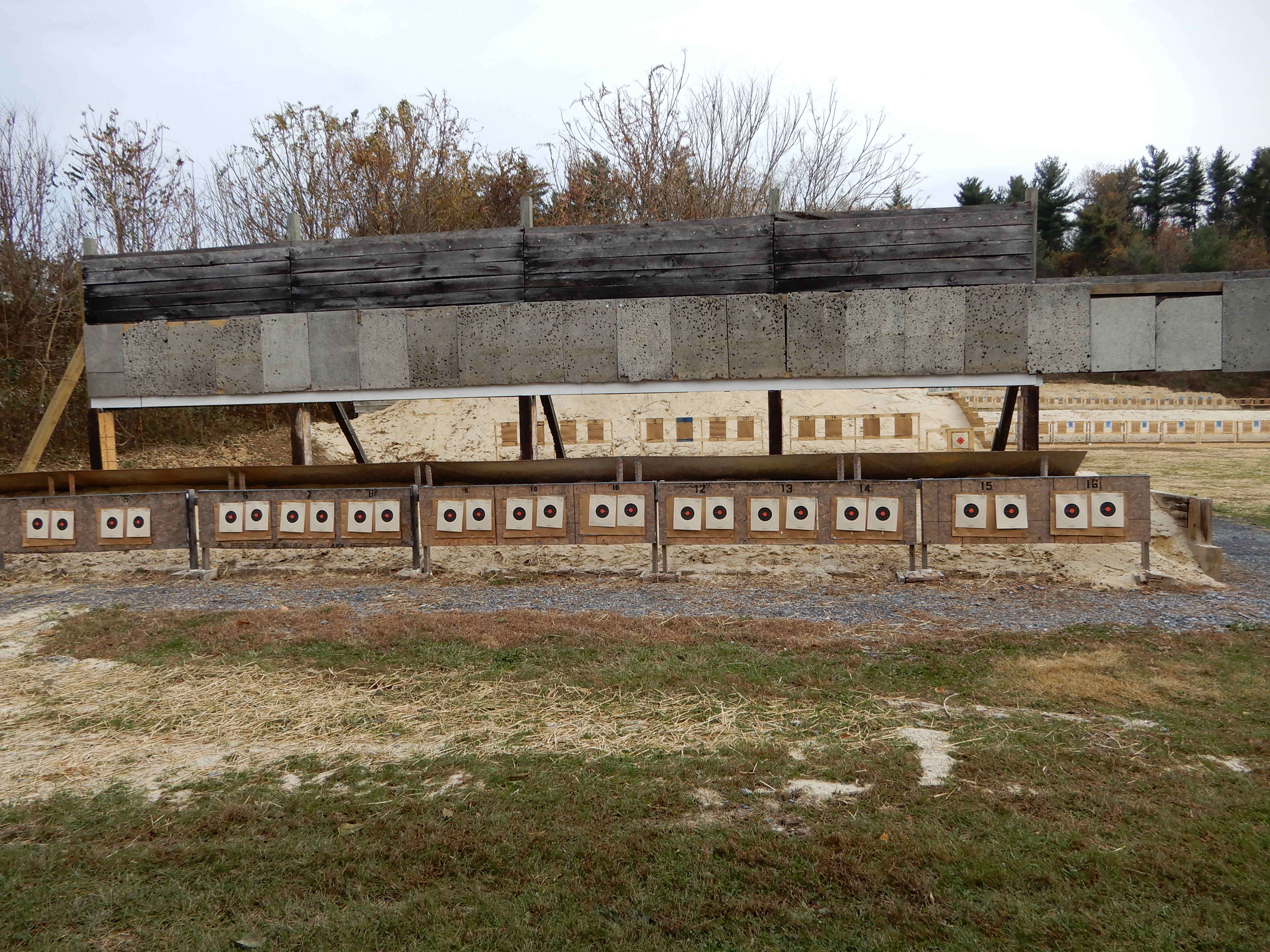 10 and 25 yard Handgun Line